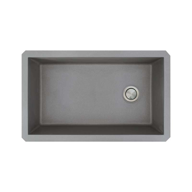 Transolid Radius Granite 31 In Undermount Kitchen Sink Kit With Grids Strainers And Drain Installation Kit In Grey K Russ3118 17