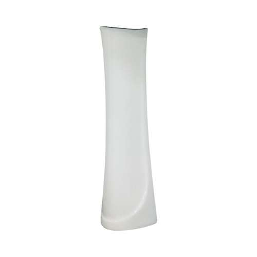 Transolid Madison Petite Vitreous China Pedestal Leg for use with TL-1444 Lavatory Sink, in White