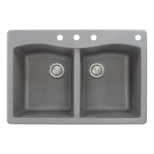 Transolid Aversa Granite 33-in Drop-in Kitchen Sink