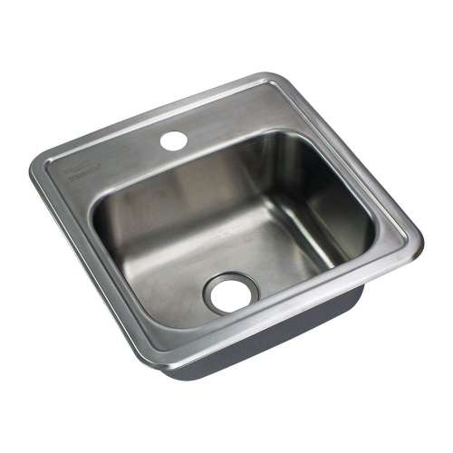 Transolid Select 15in x 15in 20 Gauge Drop-in Single Bowl Kitchen/Bar Sink with 1 Faucet Hole