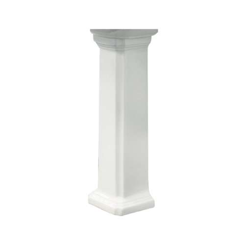 Transolid Harrison Vitreous China Pedestal Leg for use with TL-1484 Lavatory Sink, in White