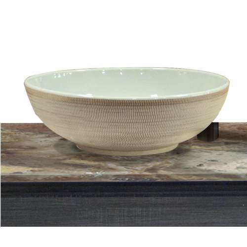 Transolid Chardon Fireclay 15.75-in Round Vessel Sink