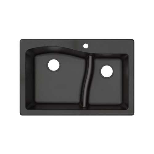 Transolid Aversa SilQ Granite 33-in. Drop-in Kitchen Sink ATDA3322-09-1-M