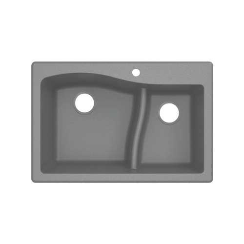 Transolid Aversa SilQ Granite 33-in. Drop-in Kitchen Sink ATDA3322-17-1-M