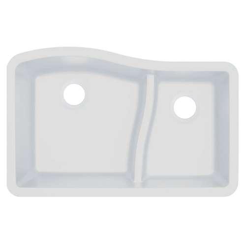 Transolid Aversa SilQ Granite 32-in. Undermount Kitchen Sink within White