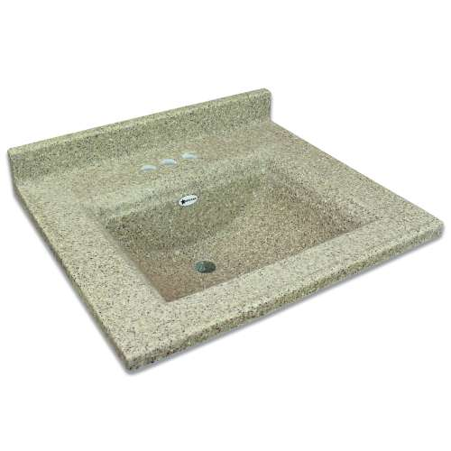 Transolid Savannah 25-in Premium Cultured Marble Vanity Top with Integrated Sink