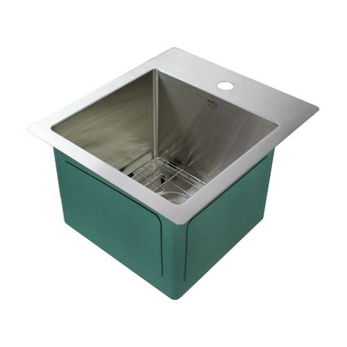 Transolid Diamond Stainless Steel 15-in Dual Mount Kitchen Sink - Multiple Hole Configurations Available