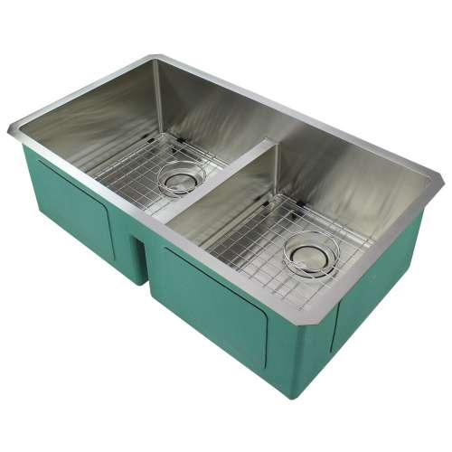 Transolid Diamond Stainless Steel 33-in Undermount Kitchen Sink