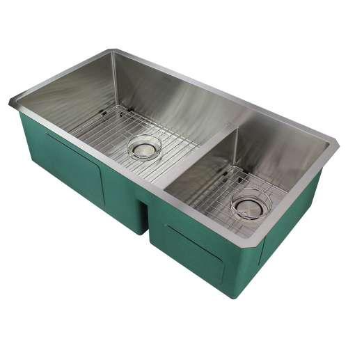 Transolid Diamond Stainless Steel 36-in Undermount Kitchen Sink