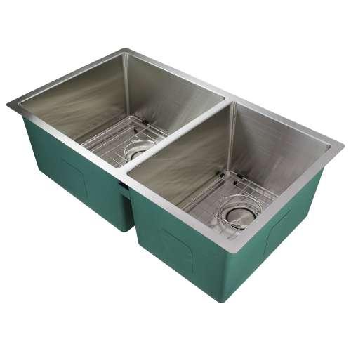 Transolid Diamond Titan 16 Gauge Stainless Steel 32-in Undermount Kitchen Sink with Taper