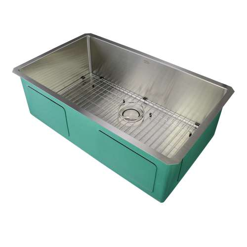 Transolid Diamond Stainless Steel 32-in Undermount Kitchen Sink
