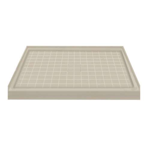 Transolid Solid Surface 48-in x 34-in Shower Base with Center Drain