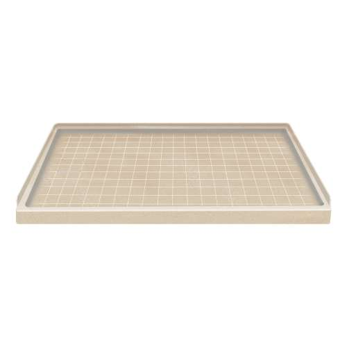 Transolid Solid Surface 60-in x 30-in Shower Base with Left Drain