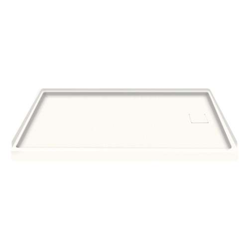 Transolid Solid Surface 60-in x 30-in Shower Base with Right Drain