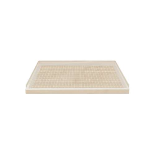 Transolid Solid Surface  60-in x 32-in Shower Base with Left Drain