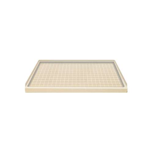 Transolid Solid Surface  60-in x 32-in Shower Base with Right Drain