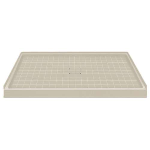 Transolid Solid Surface 60-in x 36-in Shower Base with Center Drain