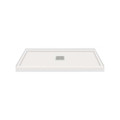 Transolid FL4832C-39 Linear 48x32 Single Threshold Shower Base with Center Drain in Grey