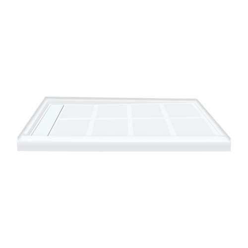 Transolid Linear 48-in x 32-in Rectangular Alcove Shower Base with Left Hand Drain - In Multiple Colors