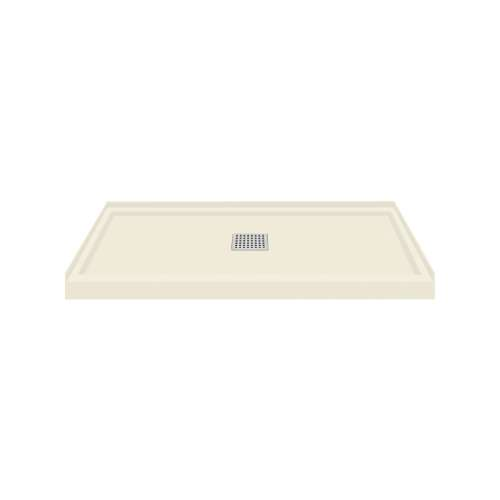 Transolid FL4836C-32 Linear 48x36 Single Threshold Shower Base with Center Drain in Cameo