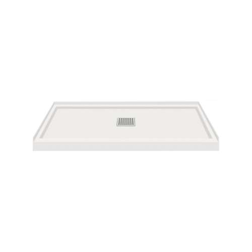Transolid FL4836C-39 Linear 48x36 Single Threshold Shower Base with Center Drain in Grey
