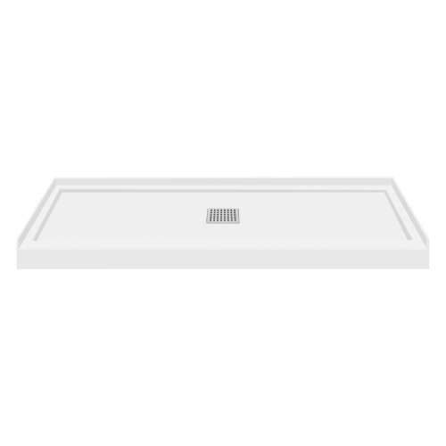 Transolid Linear 60x32 Single Threshold Shower Base with Center Drain FL6032C-31-M