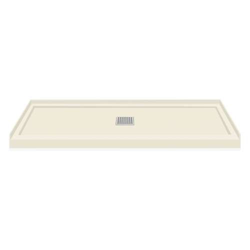 Transolid FL6032C-32 Linear 60x32 Single Threshold Shower Base with Center Drain in Cameo