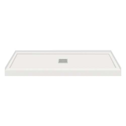 Transolid FL6032C-39 Linear 60x32 Single Threshold Shower Base with Center Drain in Grey
