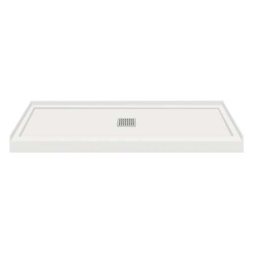 Transolid FL6036C-39 Linear 60x36 Single Threshold Shower Base with Center Drain in Grey