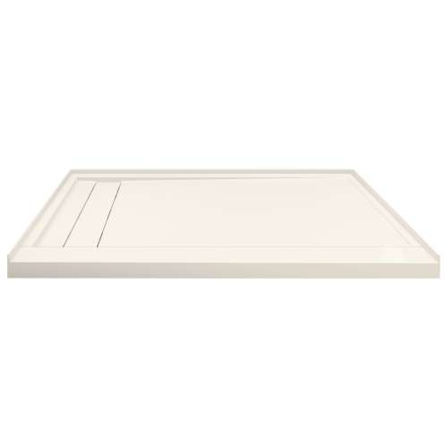 Transolid FLU6030L-32 Linear 60-in W x 30-in L Rectangular Shower Base with Left Hand Drain in Cameo