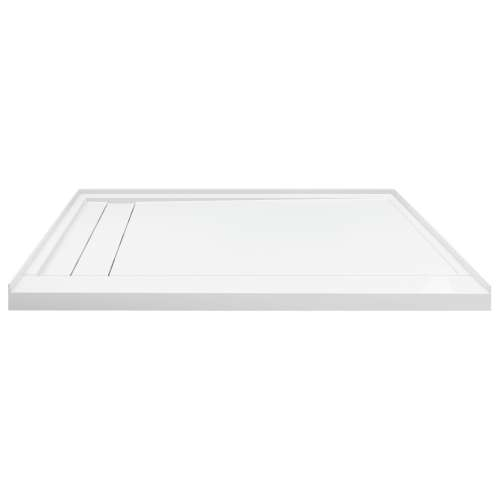 Transolid FLU6032L-31 Linear 60-in W x 32-in L Rectangular Shower Base with Left Hand Drain in White