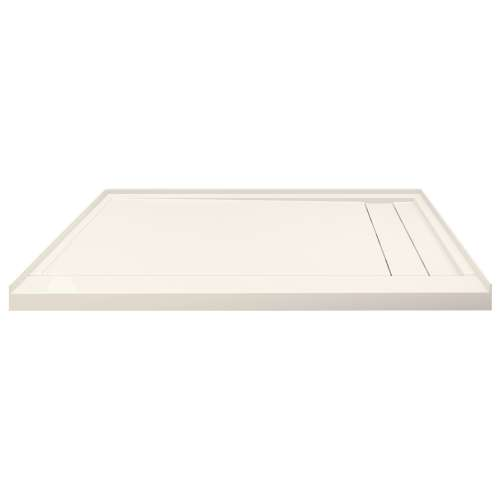 Transolid FLU6032R-32 Linear 60-in W x 32-in L Rectangular Shower Base with Right Hand Drain in Cameo
