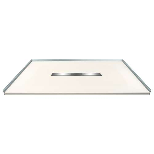 Transolid FZS4836C-32 48-in L x 35.5-in Shower Base with Zero Threshold and Center Drain in Cameo