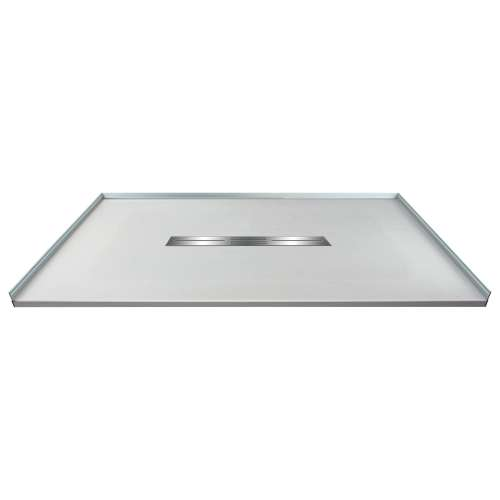 Transolid FZS4836C-39 48-in L x 35.5-in Shower Base with Zero Threshold and Center Drain in Grey