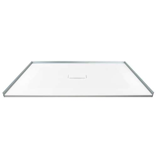 Transolid FZS5140C-31 51.2-in L x 39.4-in Shower Base with Zero Threshold and Center Drain in White