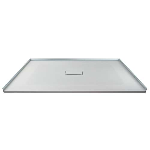 Transolid FZS5140C-39 51-in L x 40-in Shower Base with Zero Threshold and Center Drain in Grey