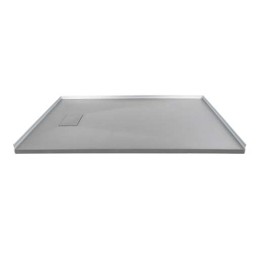 Transolid FZS6032-39 60-in L x 32-in Shower Base with Zero Threshold and Reversible End Drain in Grey