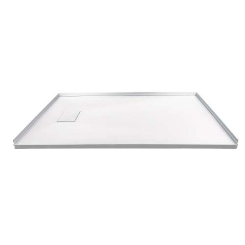 Transolid FZS6040-31 60-in L x 39.4-in Shower Base with Zero Threshold and Reversible End Drain in White