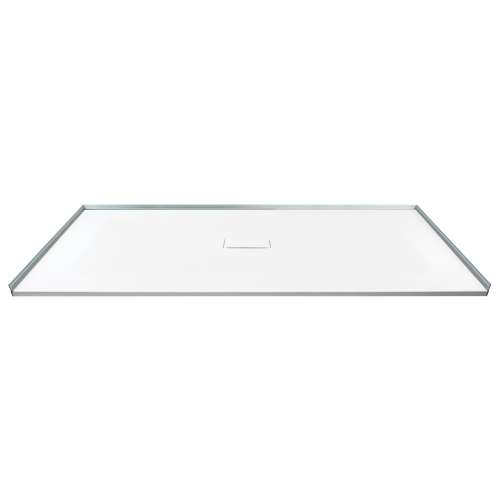 Transolid FZS6040C-31 60-in L x 39.4-in Shower Base with Zero Threshold and Center Drain in White
