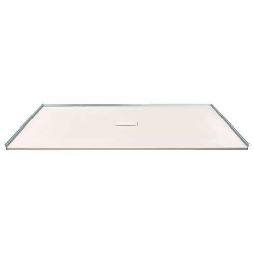 Transolid FZS6040C-32 60-in L x 39.4-in Shower Base with Zero Threshold and Center Drain in Cameo