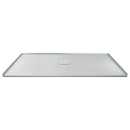 Transolid FZS6040C-39 60-in L x 39.4-in Shower Base with Zero Threshold and Center Drain in Grey