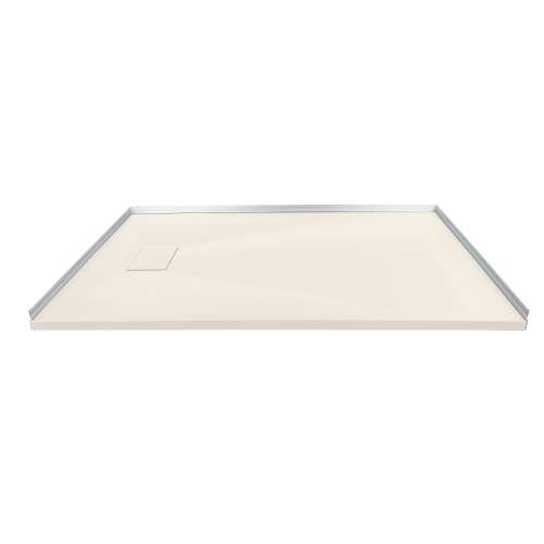 Transolid FZS6332-32 63-in L x 31.5-in Shower Base with Zero Threshold and Reversible End Drain in Cameo