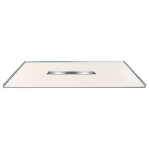 Transolid FZS6332C-32 63-in L x 31.5-in Shower Base with Zero Threshold and Center Drain in Cameo