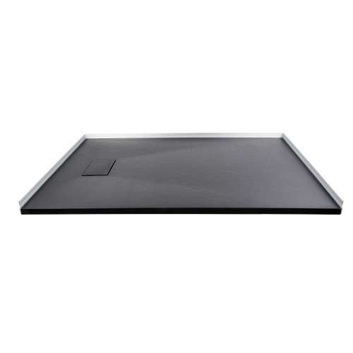 Transolid FZS6336-09 63-in L x 35.5-in Shower Base with Zero Threshold and Reversible End Drain in Black