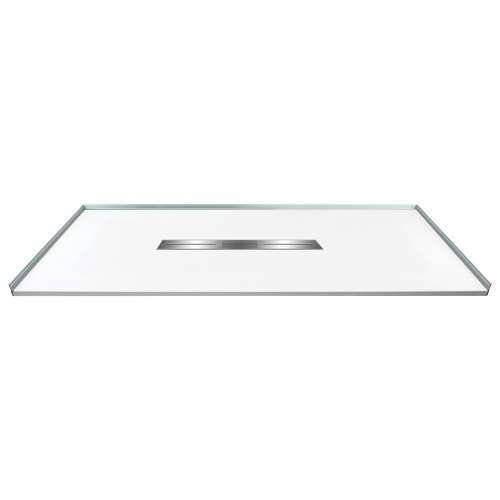 Transolid FZS6336C-31 63-in L x 35.5-in Shower Base with Zero Threshold and Center Drain in White