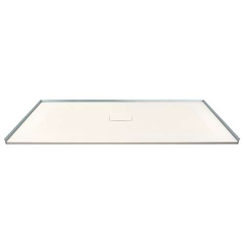 Transolid FZS6336C-32 63-in L x 35.5-in Shower Base with Zero Threshold and Center Drain in Cameo