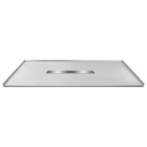 Transolid FZS6336C-39 63-in L x 35.5-in Shower Base with Zero Threshold and Center Drain in Grey