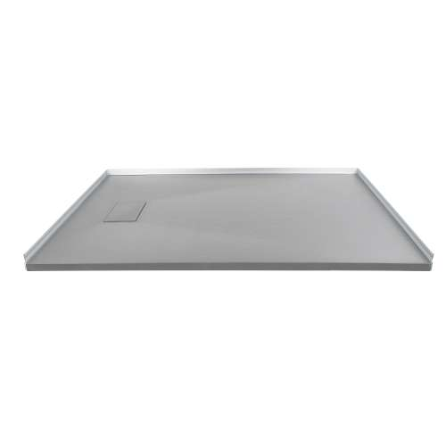 Transolid FZS6340-39 63-in L x 39.4-in Shower Base with Zero Threshold and Reversible End Drain in Grey