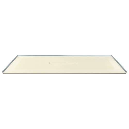 Transolid FZS7940C-38 79-in L x 40-in Shower Base with Zero Threshold and Center Drain in Biscuit