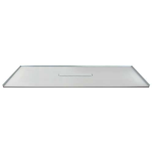 Transolid FZS7940C-39 79-in L x 40-in Shower Base with Zero Threshold and Center Drain in Grey